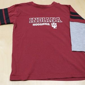 Boy's 6/7 Red Indiana Hoosiers Long Sleeve Shirt
